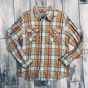 True Grit Button-Down Flannel Shirt